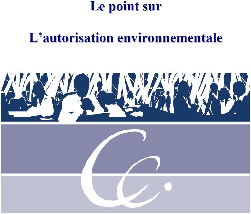 Le point sur L'autorisation environnementale